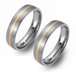 Partner Ringe Titan 750 Gelbgold Nr. 5401-5402