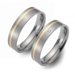 Partner Ringe Titan 750 Gelbgold Nr. 0701-0702