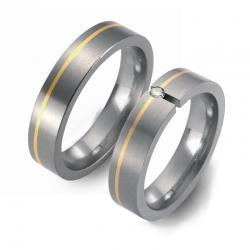 Partner Ringe Titan 750 Gelbgold Nr. 0801-0802