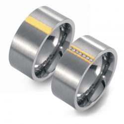 Partner Ringe Titan 750 Gelbgold Nr. 3201-3202