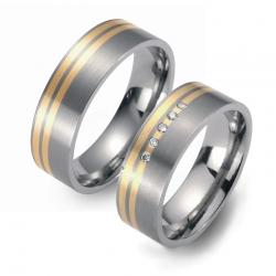 Partner Ringe Titan 750 Gelbgold Nr. 4001-4002