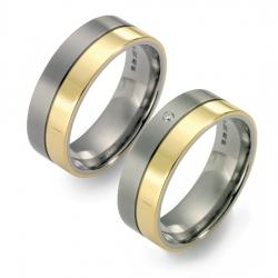 Partner Ringe Titan 750 Gelbgold Nr. 11205-11206