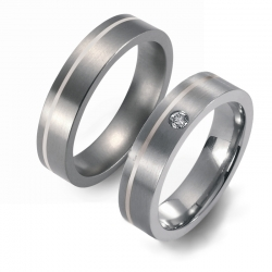 Partner Ringe   Titan/Palladium  Nr. 1007-1008