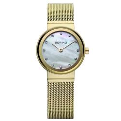 Ersatzband Bering Uhr - Milanaise goldfarben - 10122-334