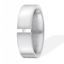 XEN Ring Edelstahl 1 Brillant Nr. 111571  -  Grösse 53