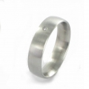XEN Ring Edelstahl 1 Brillant Nr. 011328  -  Grösse 53