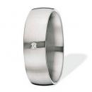 XEN Ring Edelstahl 1 Brillant Nr. 011332  -  Grösse 55