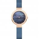 Ersatzband Bering Uhr - Milanaise blau - 10128-368