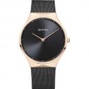 Ersatzband Bering Uhr - Milanaise schwarz - Typ 12138-162, 12138-223, 12138-227,
