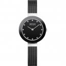 Ersatzband Bering Uhr - Milanaise schwarz - 11429-102, 11429-166