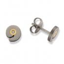 1 Paar Ohrstecker Titan 750 Gold 2 Brillanten Nr. TSO-0504