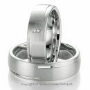 Partnerringe 925 Sterlingsilber Damenring mit Brillant Nr.8043