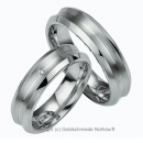 Partnerringe 925 Sterlingsilber Damenring mit Brillant Nr.8023