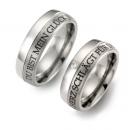 Partner Ringe Titan 1 Brillant  Aussengravur  Nr. 10705-10706