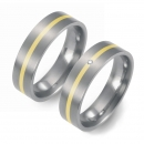 Partner Ringe Titan 750 Gelbgold Nr. 1201-1202