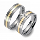 Partner Ringe Titan 750 Gelbgold Nr. 0403-0404