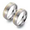 Partner Ringe Titan 750 Gelbgold Nr. 5801-5802