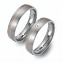 Partner Ringe Titan 750 Rotgold Nr. 5403-5404