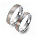 Partner Ringe Titan 750 Rotgold Nr. 5603-5604