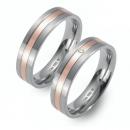 Partner Ringe Titan 750 Rotgold Nr. 0205-0206