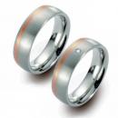 Partner Ringe Titan 750 Rotgold Nr. 5803-5804