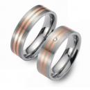 Partner Ringe Titan 750 Rotgold Nr. 3403-3404