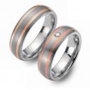 Partner Ringe Titan 750 Rotgold Nr. 6803-6804