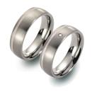 Partner Ringe   Titan/Palladium  Nr. 5807-5808