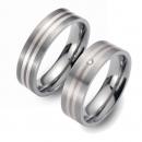 Partner Ringe   Titan/Palladium  Nr. 3407-3408