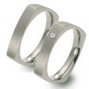 Partner Ringe Titan, Damenring 1 Brillant  Nr. 10803-10804