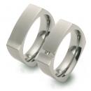 Partner Ringe Titan, Damenring 1 Brillant  Nr. 10901-10904