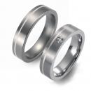 Partner Ringe   Titan/925 Sterlingsilber  Nr. 1101-1102