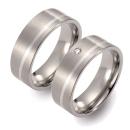 Partner Ringe   Titan/925 Sterlingsilber  Nr. 2501-2502
