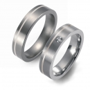 Partner Ringe   Titan/Platin  Nr. 1005-1006