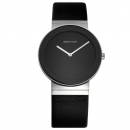 Ersatzband Bering Uhr - Leder schwarz - 10135-402