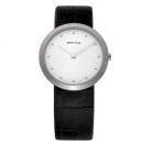 Ersatzband Bering Uhr - Leder schwarz - 10331-400 , 10331-402