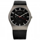 Ersatzband Bering Uhr - Leder schwarz - 11939-472