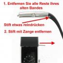 Ersatzband mit Faltschliesse - für Typ 43250 , 43251 ,43260 , 43261