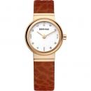 Ersatzuhrband Bering Uhr - Leder braun - 10122-534