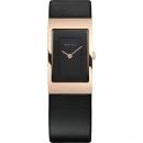 Ersatzband Bering Uhr - Leder schwarz - 10222-462