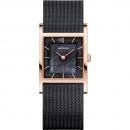 Ersatzband Bering Uhr - Milanaise schwarz - 10426-166